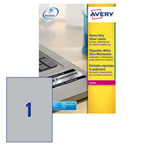 Poliestere adesivo L6013 argento 20fg A4 210x297mm (1et/fg) laser Avery