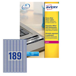 Poliestere adesivo L6008 argento 20fg A4 24,5x10mm (189et/fg) laser Avery