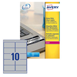 Poliestere adesivo L6012 argento 20fg A4 96x50,8mm (10et/fg) laser Avery