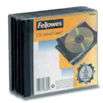 FELLOWES PACK 5 CUSTODIA CD SINGOLA JEWEL CASE BASE NERA