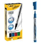 ASTUCCIO 4 MARCATORI P.TONDA Whiteboard VELLEDA® Liquid Ink Pocket BIC®