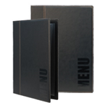SECURIT PORTA MENU' A4-24x34cm NERO TRENDY con 1 INSERTO DOPPIO