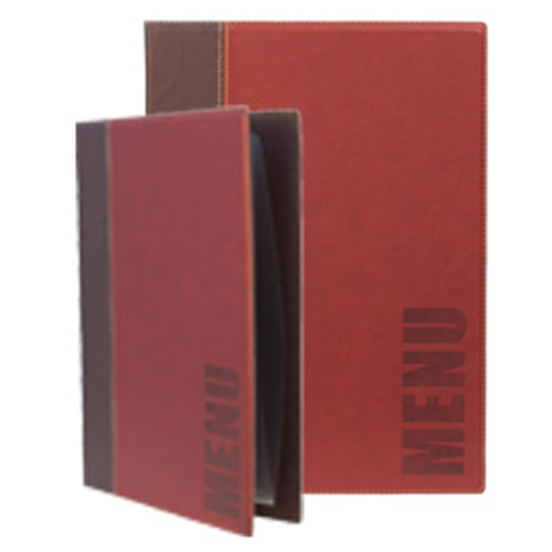 SECURIT PORTA MENU' A4-24x34cm BORDEAUX TRENDY con 1 INSERTO DOPPIO