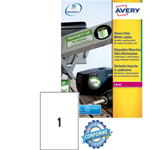 Poliestere adesivo L4775 bianco 100fg A4 210x297mm (1et/fg) laser Avery