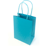 Mainetti Bags 25 shoppers carta kraft 14x9x20cm twisted turchese