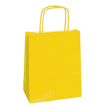 Mainetti Bags 25 shoppers carta kraft 14x9x20cm twisted giallo