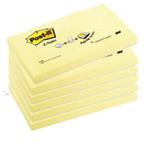 BLOCCO 100fg Post-it®Super Sticky Z-Notes R350 Giallo Canary™ 76x127mm