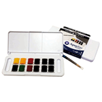 Acquerelli AQUAFINE Scatola in Plastica POCKET 12 godet+pennello Daler Rowney