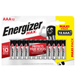 Blister 12 pile ministilo AA A - Energizer Max