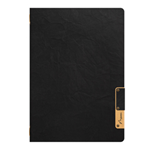 SECURIT Porta MenU' A4-24,5x34cm Nero Nature con 1 INSERTO DOPPIO