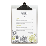 SECURIT Porta MenU' in metallo A4-33,2x22,8cm con clip