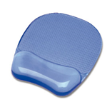 FELLOWES MOUSE PAD CON POGGIAPOLSI IN GEL TRASPARENTE BLU